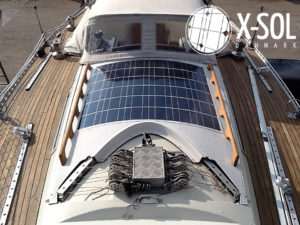 Montage Solelle på båd