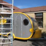 Campingvogn klar til installation af solceller