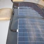 Færdig installation af 2 x 75watt FlexLight solceller på campingvogn