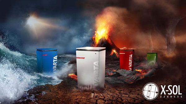 Varta solcelle batteri til alle solcelleanlæg - X-Sol Danmark er distributør for Vartas nye batteriserie til solcelleanlæg