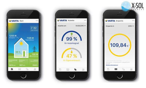 Varta App giver dig direkte overblik over dit solcellanlæg - batteri fra mobil.