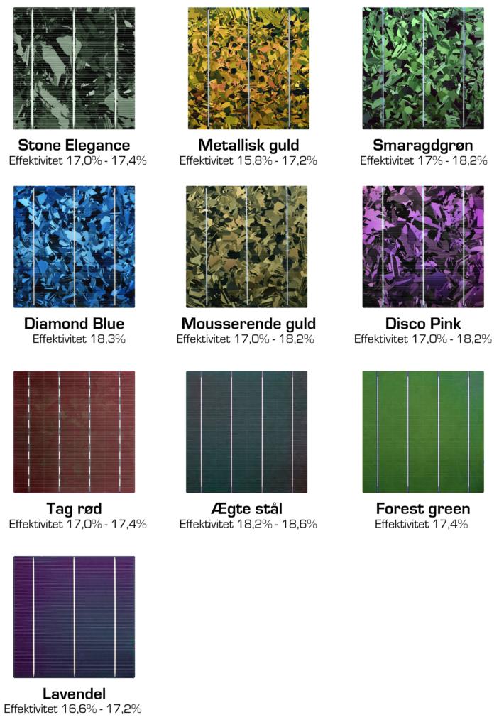 Farvet celler i solceller efter mål fra X-Sol Danmark