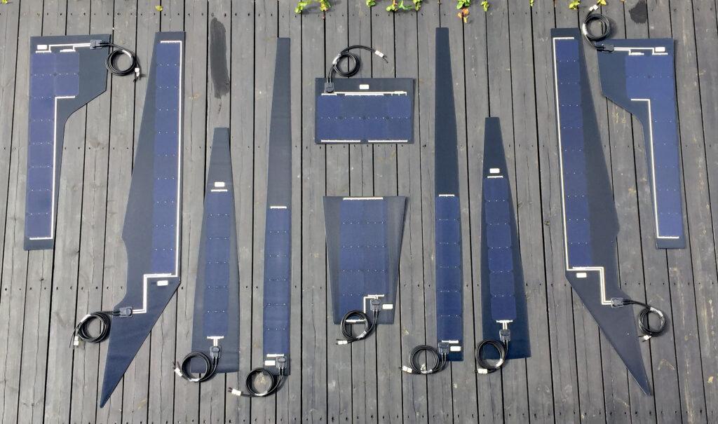 Solceller efter mål i forskellige former