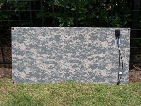 Solceller efter mål med camouflage